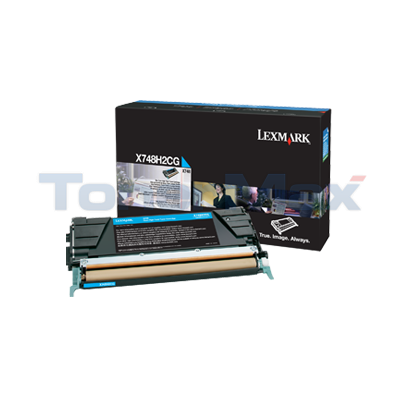 LEXMARK X748 TONER CARTRIDGE CYAN HY